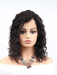 cheap -Remy Human Hair Full Lace Wig Asymmetrical Rihanna style Brazilian Hair Water Wave Black Wig 130% 150% 180% Density with Baby Hair Women Easy dressing Sexy Lady Natural Women's Long Human Hair Lace
