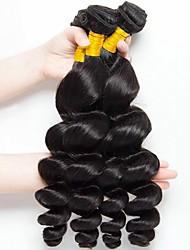 Недорогие -4 Связки Евро-Азиатские волосы Свободные волны Натуральные волосы Необработанные натуральные волосы 400 g Удлинитель Пучок волос One Pack Solution 8-28 дюймовый Нейтральный Естественный цвет / 8A