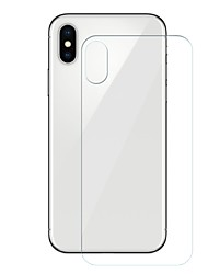 cheap -Screen Protector for Apple iPhone X Tempered Glass 1 pc Back Protector 9H Hardness / Scratch Proof / Anti-Fingerprint