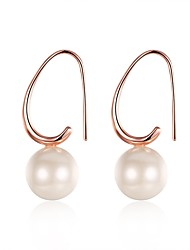 cheap -Women's Freshwater Pearl Drop Earrings Mismatched Ladies Sweet everyday Rose Gold Plated Earrings Jewelry Rose Gold For Wedding Party Daily Masquerade Engagement Party Prom 1 Pair