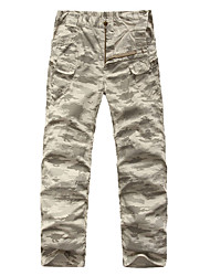 cheap -Men's Hiking Pants Hiking Cargo Pants Camo Outdoor Breathable Quick Dry Wear Resistance Cotton Pants / Trousers Bottoms Hunting Hiking Outdoor Exercise Camouflage Grey S M L XL XXL