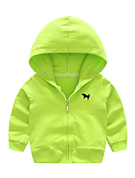 cheap -Kids Boys' Active Daily School Solid Colored Long Sleeve Regular Cotton Suit & Blazer Light Green