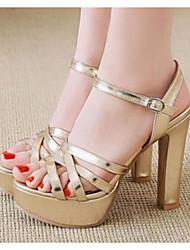 cheap -Women's Sandals Stiletto Heel PU(Polyurethane) Comfort / Basic Pump Summer White / Black / Silver