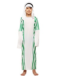 cheap -Cosplay Costume Boys' Kids Halloween Halloween Carnival Children's Day Festival / Holiday Polyster Outfits White Solid Colored Halloween