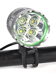 cheap -LED Bike Light Front Bike Light LED Mountain Bike MTB Bicycle Cycling Waterproof Multiple Modes Super Bright Portable Rechargeable Battery 8000 lm Natural White Camping / Hiking / Caving Everyday Use