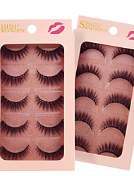 cheap -Eyelash Extensions False Eyelashes 10 pcs Volumized Curly Animal wool eyelash Event / Party Daily Wear Thick - Makeup Daily Makeup Halloween Makeup Party Makeup Classic & Timeless Trendy Cosmetic