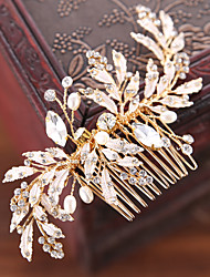 cheap -Rhinestone / Alloy Hair Combs / Hair Stick / Hair Accessory with Rhinestone / Faux Pearl 1 Piece Wedding / Party / Evening Headpiece