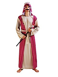 cheap -Arabian Costume Men's Adults Halloween Halloween Carnival Masquerade Festival / Holiday Polyster Outfits Coffee Solid Colored Halloween