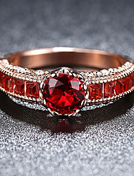 cheap -Band Ring Ruby Vintage Style Red Rose Gold Plated Titanium Elegant Vintage 1pc 6 7 8 9 / Women's / Cubic Zirconia / Engagement Ring / Wedding / Engagement