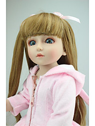 cheap -NPKCOLLECTION NPK DOLL Ball-joined Doll / BJD Blythe Doll Country Girl 18 inch Full Body Silicone Vinyl - lifelike Gift Artificial Implantation Blue Eyes Kid's Girls' Toy Gift