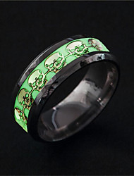 cheap -Men Band Ring Luminous Stone Vintage Style Silver Stainless Steel Classic Cowboy Rock 1pc 6 7 8 9 10 / Men's