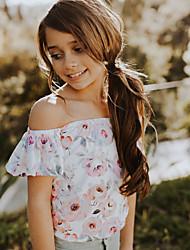 cheap -Baby Girls' Active / Basic Daily / Holiday Floral / Print Printing Short Sleeves Bodysuit Blushing Pink / Toddler
