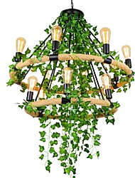 cheap -QIHengZhaoMing Hemp Rope Chandelier Ambient Light Painted Finishes Metal 110-120V / 220-240V Warm White Bulb Included / Bulb Not Included