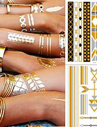 cheap -5 pcs Temporary Tattoos Fashionable Design / Decoration brachium / Ankle Water-Transfer Sticker Tattoo Stickers
