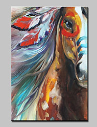 cheap -Mintura® Large Size Hand Painted Horse Animals Oil Painting On Canvas Modern Abstract Wall Art Picture For Home Decoration No Frame