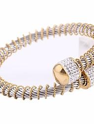 cheap -Women's Cubic Zirconia Plaited Wrap Creative Ladies European Elegant Rhinestone Bracelet Jewelry Gold / Silver For Date Festival / Titanium Steel