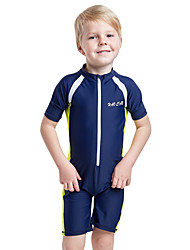 cheap -Kids Boys' Active Sports Beach Solid Colored Short Sleeves Cotton Swimwear Blue