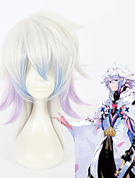 cheap -Fate / Grand Order FGO Merlin Cosplay Wigs All 18 inch Heat Resistant Fiber Anime Wig