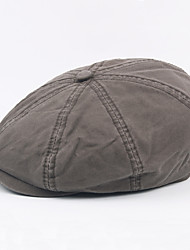 cheap -Men's Vintage Work Cotton Polyester Beret Hat-Solid Colored Fall Winter Gray Army Green Khaki