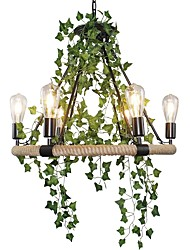 cheap -QIHengZhaoMing 6-Light Chandelier Hemp Rope Ambient Light Painted Finishes Metal 110-120V / 220-240V Warm White Bulb Included / Bulb Not Included