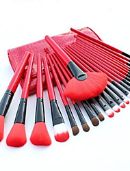 cheap -Professional Makeup Brushes Makeup Brush Set 24pcs Limits Bacteria Pony / Synthetic Hair / Horse Makeup Brushes for Makeup Brush Set / Artificial Fibre Brush / Pony Brush