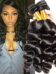 cheap -4 Bundles Malaysian Hair Loose Wave Human Hair Natural Color Hair Weaves / Hair Bulk Hair Care One Pack Solution 8-28 inch Natural Color Human Hair Weaves Waterfall Hot Sale For Black Women Human