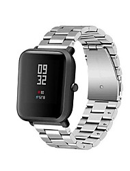 cheap -Watch Band for Huami Amazfit Bip Younth Watch Xiaomi Sport Band Metal / Stainless Steel Wrist Strap