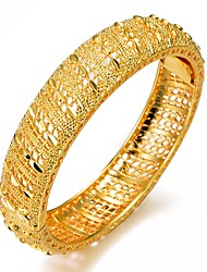 cheap -Women's Bracelet Bangles Cuff Bracelet Sculpture Ladies Ethnic Italian Gold Plated Bracelet Jewelry Gold For Party Gift