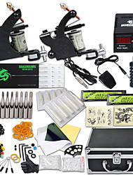cheap -DRAGONHAWK Tattoo Machine Professional Tattoo Kit - 2 pcs Tattoo Machines, Professional / Safety / Easy to Setup Alloy LCD power supply Case Included 2 alloy machine liner & shader