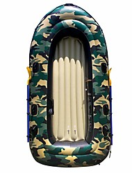 cheap -2 Persons Inflatable Boat Set with French Oars PVC Fishing Boating 190*98 cm