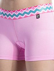 cheap -SANTIC Women's Cycling Under Shorts Bike Shorts Underwear Shorts Padded Shorts / Chamois Breathable Sweat-wicking Sports Polyester Elastane Winter Purple / Light Pink Mountain Bike MTB Road Bike