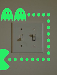 cheap -Light Switch Stickers - Plane Wall Stickers / Luminous Wall Stickers Halloween Decorations / Holiday Indoor / Kids Room