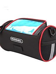 cheap -Bike Handlebar Bag 5.5 inch Reflective Strips Cycling for iPhone 8 Plus / 7 Plus / 6S Plus / 6 Plus Black / 600D Polyester