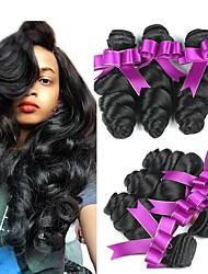 cheap -6 Bundles Brazilian Hair Wavy Human Hair Natural Color Hair Weaves / Hair Bulk Human Hair Extensions 8-28 inch Natural Human Hair Weaves New Arrival For Black Women 100% Virgin Human Hair Extensions