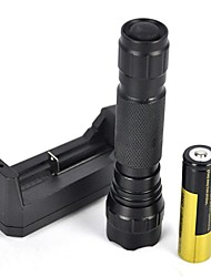cheap -2000 lm LED Flashlights / Torch LED 1 Mode Portable / Professional / Anti-Shock