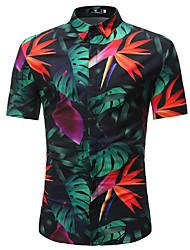 cheap -Men's Daily Beach Shirt Black / Short Sleeve