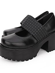 cheap -Women's Lolita Shoes Gothic Lolita Punk Wedge Heel Shoes Lolita 8 cm Black Brown PU(Polyurethane) Halloween Costumes