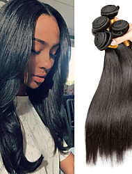 cheap -Remy Human Hair Hair weave Best Quality / New Arrival / Hot Sale Straight Malaysian Hair Mid Length 400 g 1 Year Dailywear / Wedding Party / Quinceañera & Sweet Sixteen