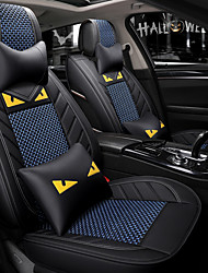 cheap -5 seats black and blue Cartoon car seat cover with two headrest and two waist cushions/PU leather and ice silk material/Airbag compatibility/adjustable and removable
