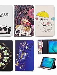 Недорогие -Кейс для Назначение SSamsung Galaxy Tab A 8.0 Кошелек / Бумажник для карт / со стендом Чехол Слон Твердый Кожа PU