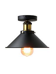 cheap -1-Light 22 cm Mini Style Flush Mount Lights Metal Industrial Painted Finishes Retro / Country 110-120V / 220-240V / E26 / E27