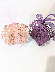 cheap -irregular Pure Paper Favor Holder with Sashes / Ribbons Favor Boxes - 10