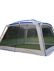 cheap -8 person Screen Tent Screen House Outdoor Lightweight Rain Waterproof Breathability Double Layered Poled Camping Tent >3000 mm for Camping / Hiking / Caving Picnic Terylene 365*365*210 cm