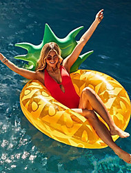 cheap -Pineapple Inflatable Pool Floats PVC Inflatable Durable Swimming Water Sports for Adults 180*80 cm