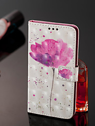 cheap -Case For Samsung Galaxy J8 / J7 Duo / J2 PRO 2018 Wallet / Card Holder / Flip Full Body Cases Flower Hard PU Leather