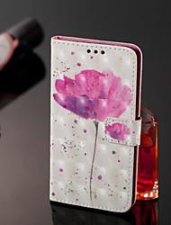 abordables -Coque Pour Samsung Galaxy J8 / J7 Duo / J2 PRO 2018 Portefeuille / Porte Carte / Clapet Coque Intégrale Fleur Dur faux cuir