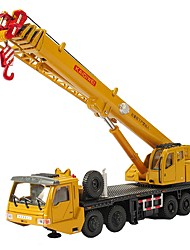 cheap -1:55 Metal Construction Truck Set Crane Toy Car City View Cool Exquisite Truck Transporter Truck Construction Vehicle All Boys' Girls' Child's Teenager Car Toys