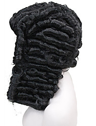 cheap -Synthetic Wig Wavy Middle Part Wig Medium Length Natural Black Synthetic Hair Men's Synthetic Black StrongBeauty