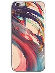 رخيصةأون -غطاء من أجل Apple iPhone X / iPhone 8 Plus / iPhone 8 نحيف جداً / نموذج غطاء خلفي منظر / رسم زيتي ناعم TPU