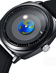 cheap -Men's Dress Watch Wrist Watch Japanese Quartz Silicone Black 50 m Creative Cool Analog Classic Casual Fashion - Black One Year Battery Life / Stainless Steel